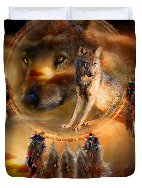 Dream Catcher - Wolfland Duvet Cover