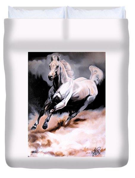 Dream Horse Series 20 - White Lighting Duvet Cover