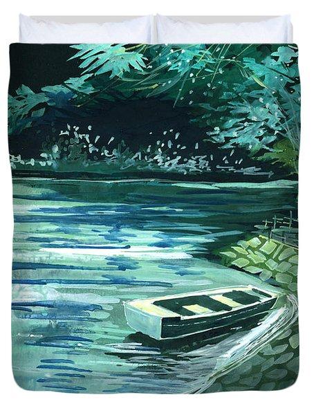 Dream Lake Duvet Cover by Anil Nene