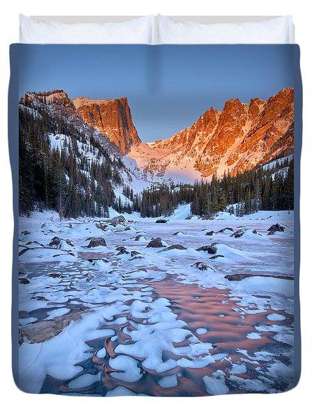 Dream Lake - Rocky Mountain National Park Duvet Cover