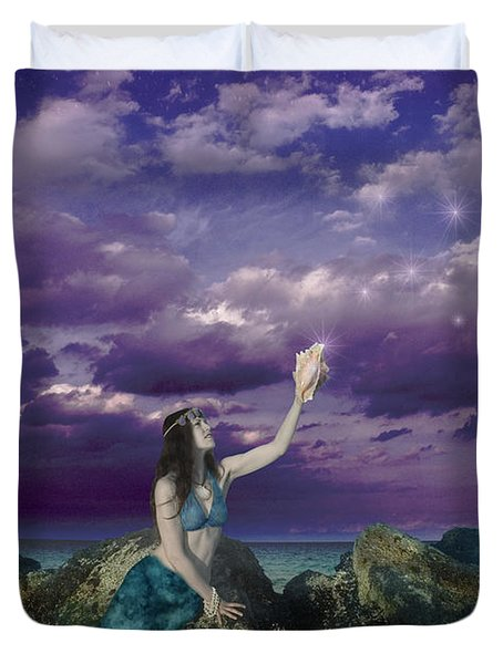 Dream Mermaid Duvet Cover by Alixandra Mullins