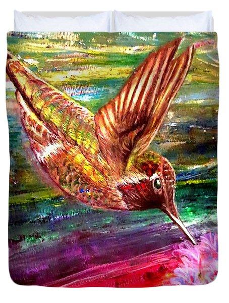Dream Of A Hummingbird  Duvet Cover by Kimberlee Baxter