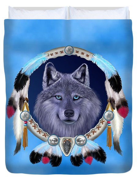 Dream Wolf Duvet Cover by Glenn Holbrook