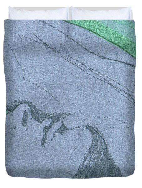 Dreaming Duvet Cover by First Star Art