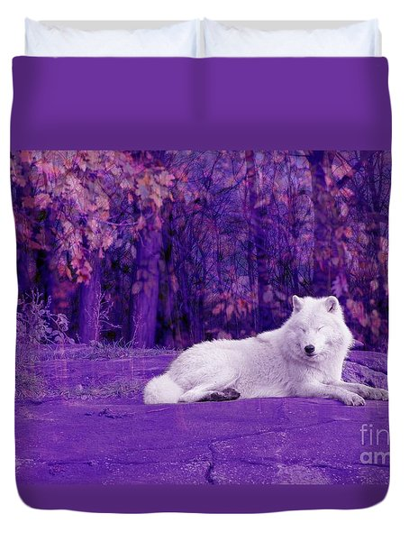 Dreaming Of Another World Duvet Cover by Vicki Spindler