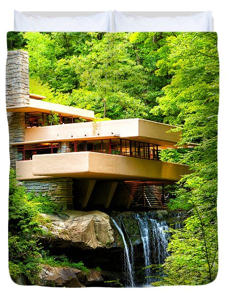 Dreaming Of Fallingwater 3 Duvet Cover by Rachel Cohen