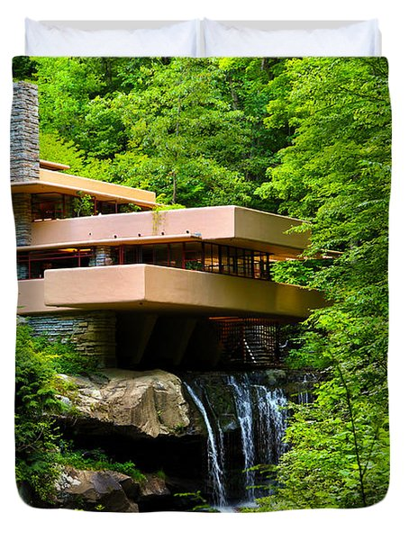 Dreaming Of Fallingwater 4 Duvet Cover by Rachel Cohen