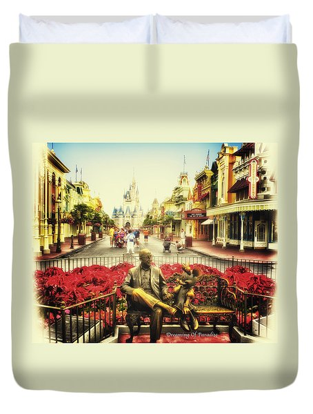 Dreaming Of Paradise Walt Disney World Duvet Cover by Thomas Woolworth