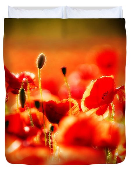 Duvet Cover featuring the photograph Dreaming Of Poppies by Meirion Matthias