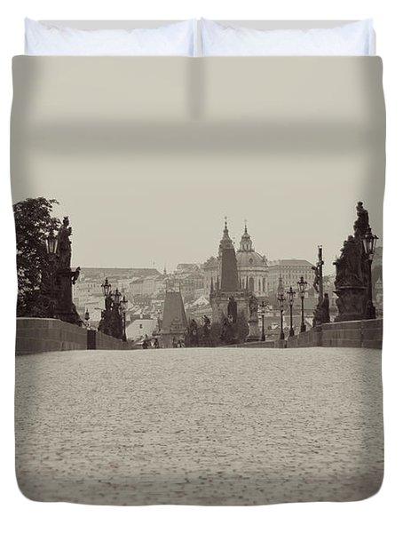 Dreaming Of Prague Duvet Cover by Ivy Ho