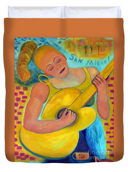 Dreaming Of San Miguel Duvet Cover by Karen Francis
