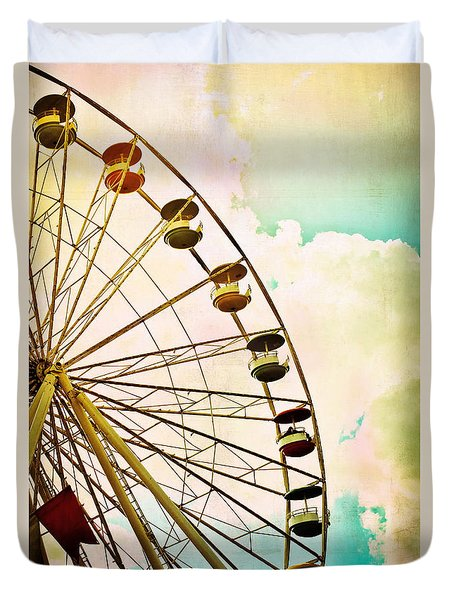 Dreaming Of Summer - Ferris Wheel Duvet Cover