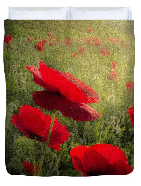 Dreaming Of The Morning Duvet Cover by Debra and Dave Vanderlaan