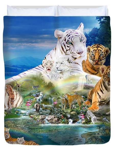 Dreaming Of Tigers  Variation  Duvet Cover