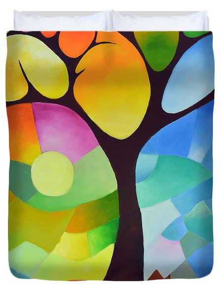 Dreaming Tree Duvet Cover by Sally Trace