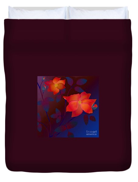 Dreaming Wild Roses Duvet Cover by Latha Gokuldas Panicker
