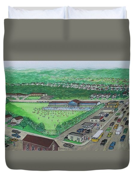 Dreamland Swimming Pool In Portsmouth Ohio 1950s Duvet Cover by Frank Hunter