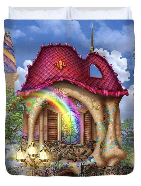 Dreams Of Gaudi Duvet Cover by Ciro Marchetti