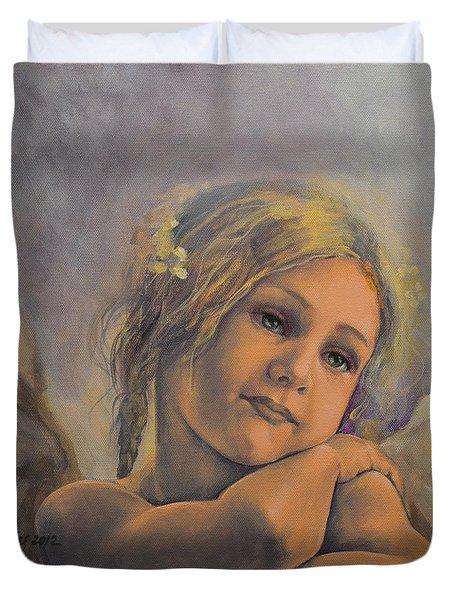 Dreamy Angel Duvet Cover by Dorina  Costras