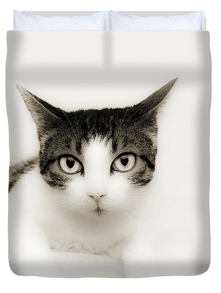 Dreamy Cat Duvet Cover by Andee Design