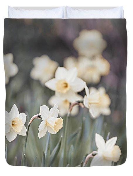 Dreamy Daffodils Duvet Cover by Elena Elisseeva