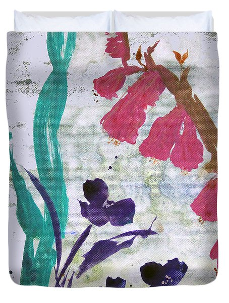 Dreamy Day Flowers Duvet Cover
