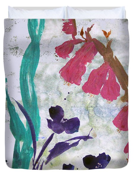 Dreamy Day Flowers Duvet Cover