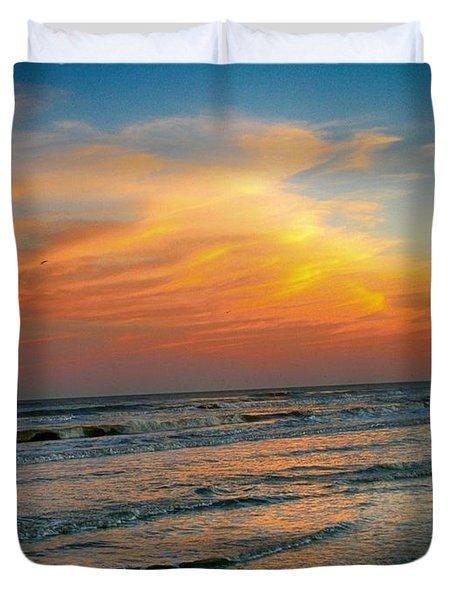 Dreamy Gulf Coast Sunset Duvet Cover