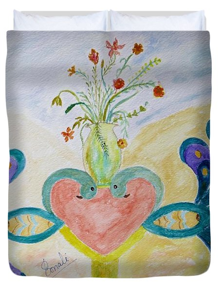 Dreamy Heart Duvet Cover by Sonali Gangane