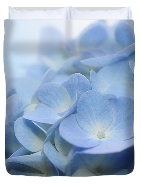 Duvet Cover featuring the photograph Dreamy Hydrangea by Lisa Knechtel