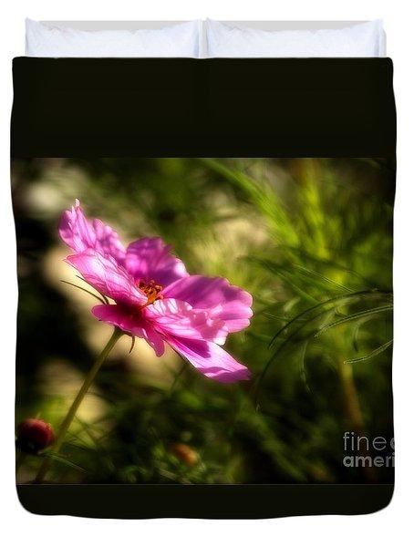 Dreamy Pink Comos Duvet Cover