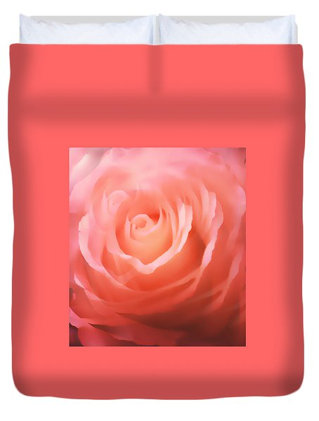 Dreamy Pink Rose Duvet Cover
