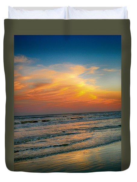Dreamy Texas Sunset Duvet Cover by Kristina Deane