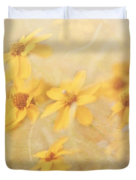 Dreamy Yellow Coreopsis Duvet Cover