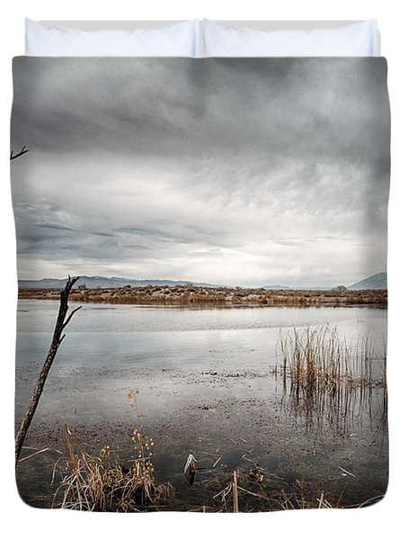 Dreary Duvet Cover by Cat Connor
