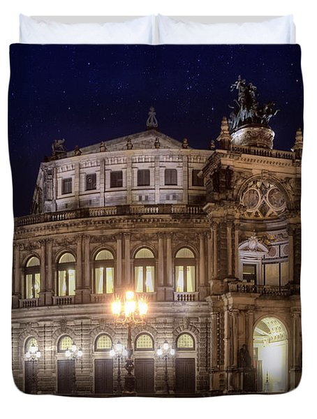 Dresden Semperopera Duvet Cover by Steffen Gierok