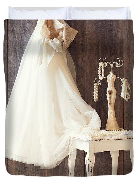 Dress Duvet Cover by Amanda Elwell