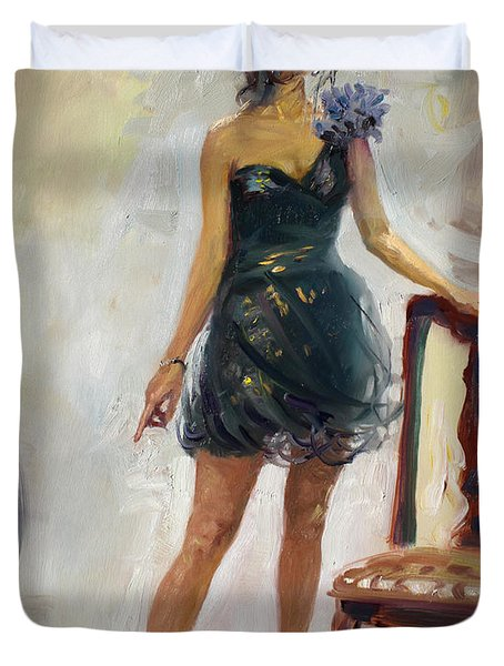 Dressed Up Girl Duvet Cover