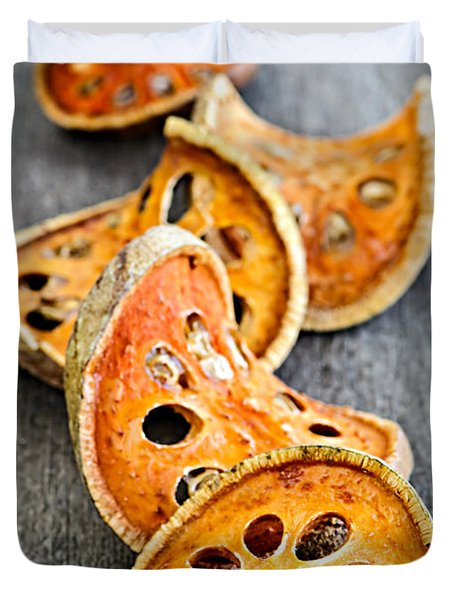 Dried Bael Fruit Duvet Cover by Elena Elisseeva