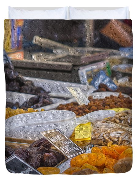 Dried Fruits Duvet Cover