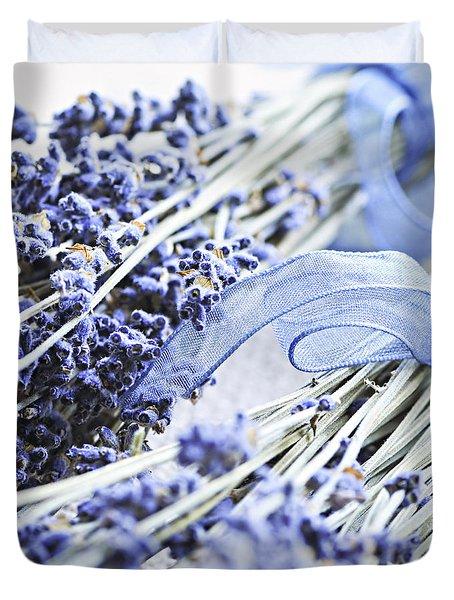 Dried Lavender Duvet Cover by Elena Elisseeva