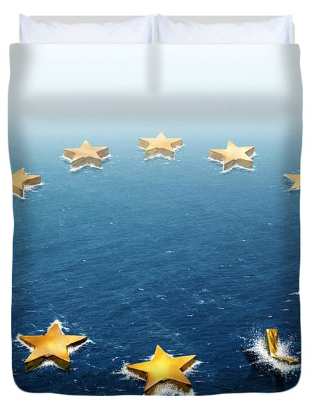 Drifting Europe Duvet Cover by Carlos Caetano