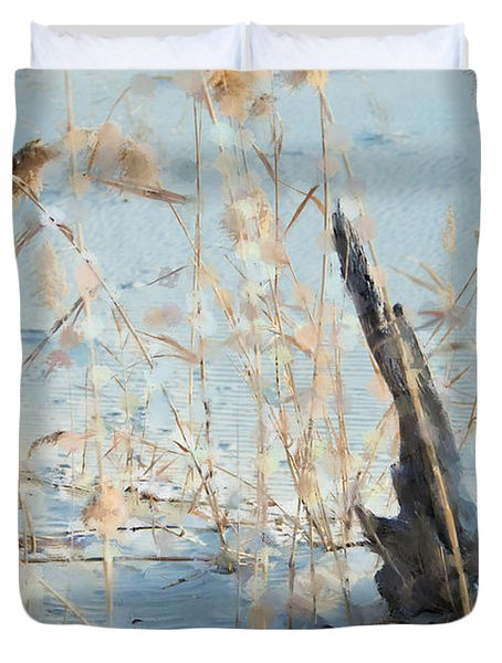 Driftwood Abstract Duvet Cover by Betty LaRue