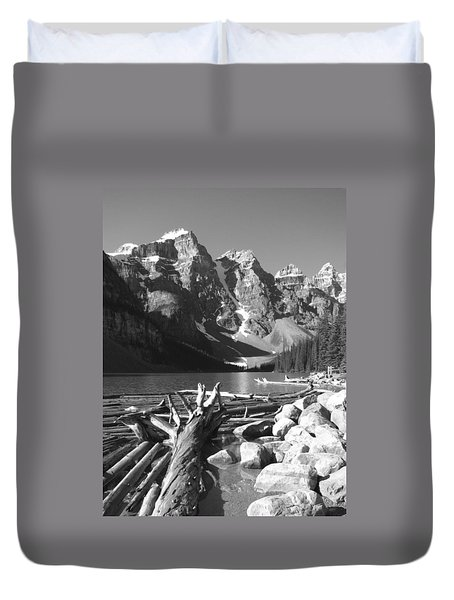 Driftwood - Black And White Duvet Cover