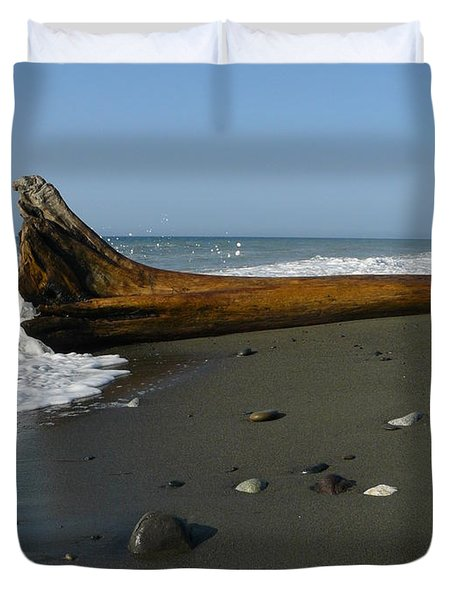 Driftwood Duvet Cover by Jane Ford