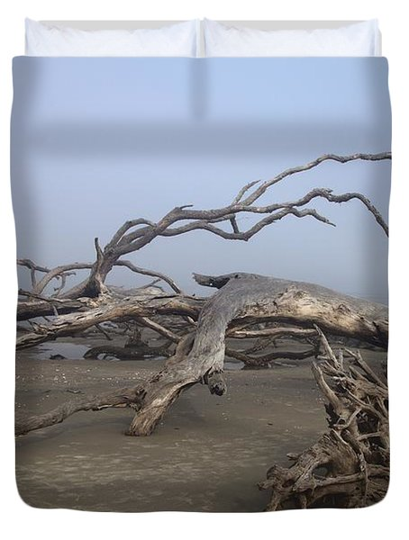 Driftwood Trees On Jekyll Island Duvet Cover