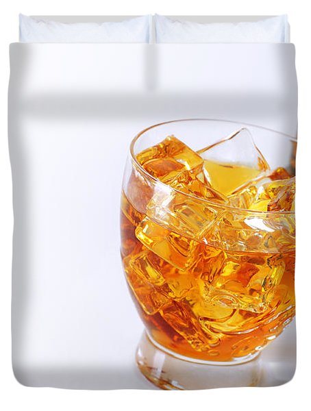 Drink On The Rocks Duvet Cover by Carlos Caetano