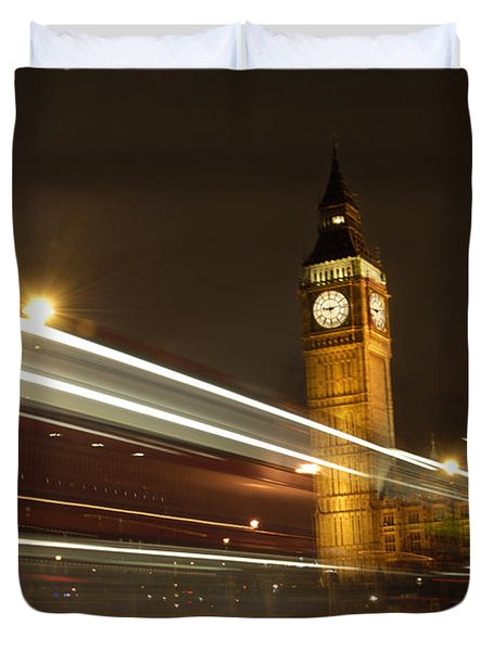 Drive By Ben - England Duvet Cover by Mike McGlothlen