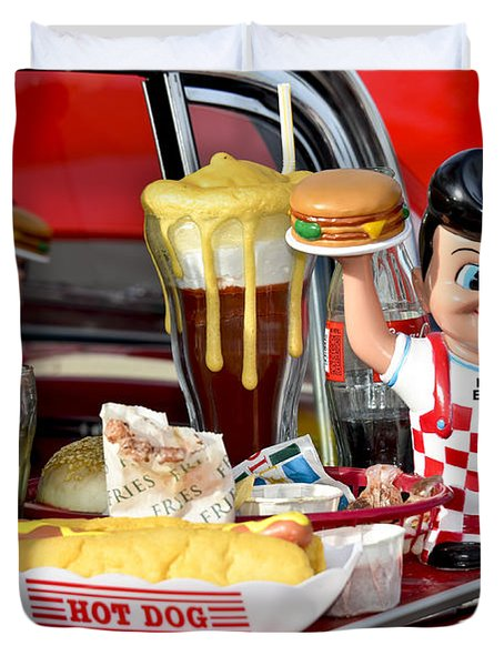 Drive-in Food Classic Duvet Cover