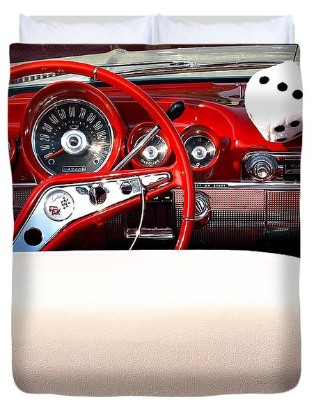 Drive-in Lounge - 1960 Chevy Duvet Cover